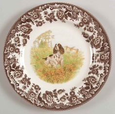 Manufacturer: Spode. Piece: English Spaniel Salad Plate. Pattern: WOODLAND. China - Dinnerware Crystal & Glassware Silver & Flatware Collectibles. Replacements, Ltd. has the world's largest selection of old & new dinnerware, including china, stoneware, crystal, glassware, silver, stainless, and collectibles. | eBay!