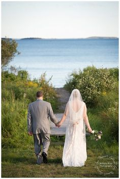 Point Lookout Wedding by Maine Wedding Photographers - Wedding Portraits on Beach