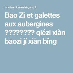 Bao Zi et galettes aux aubergines 茄子馅包子及馅饼 qiézi xiàn bāozi jí xiàn bǐng