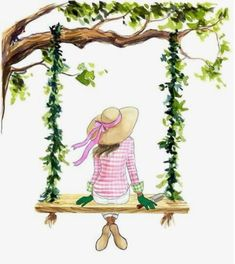 Love this illustration for the 2017 Azalea trail, meet Lily 🌸💕Illustration by the talented Inslee Lo Girly Drawings, Fashion Wall Art, Anime Art Girl, Cute Illustration, Cute Wallpapers, Cute Art, Art Sketches, Watercolor Paintings, Canvas Art