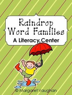 Literacy Center: Raindrop Word Families {iHeartLiteracy}