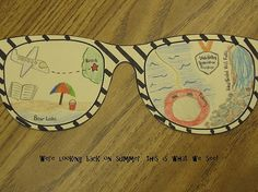 "Back to School: Sunglasses ""looking back on summer."""