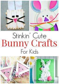 12 Bunny Crafts for kids. Easter crafts for kids with stinkin' cute bunnies. Crafts for kids of all ages perfect for spring and Easter. Easter Arts And Crafts, Spring Crafts For Kids, Bunny Crafts, Diy And Crafts, Kids Crafts, Easy Crafts, Activities For Teens, Easter Activities, Spring Activities