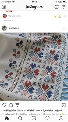 Untitled Crochet Tablecloth, Baby Knitting Patterns, Cross Stitch Patterns, Needlework, Embroidery Designs, Bohemian Rug, Projects To Try, Retro, Fabric