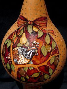 Partridge in Pear Tree Gourd by Dvine Art #Etsy
