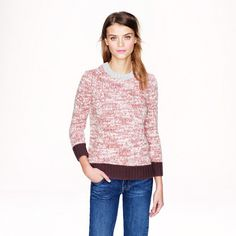 Awesome and so comfy!   J. Crew Pre-order Maried colorblock sweater - Pullover - Women's sweater. www.snatchthat.com