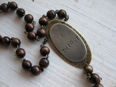 I Thirst Featured Item on Front Page Brass and Wood by ferdandbird, $75.00