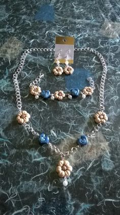 Parure simil thun fimo polymer clay