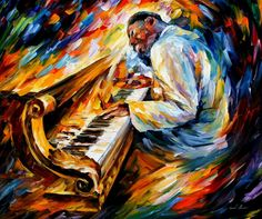 ERROLL GARNER - PALETTE KNIFE Oil Painting On Canvas By Leonid Afremov - http://afremov.com/ERROLL-GARNER-PALETTE-KNIFE-Oil-Painting-On-Canvas-By-Leonid-Afremov-Size-36-x30.html?bid=1&partner=20921&utm_medium=/vpin&utm_campaign=v-ADD-YOUR&utm_source=s-vpin