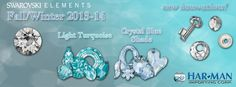 NEW!!!! #swarovskielements New Trend Launch! 2 New colors: Lt. Turquoise and Crystal Blue Shade! All the new colors and styles at: www.harmanbeads.com