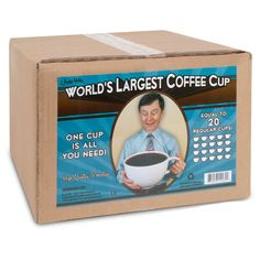 World's Largest Coffee Cup - Holds 20 Regular Cups! at Cowgirl Blondie's Western Boutique