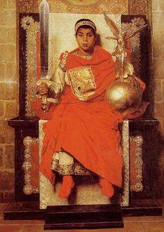El emperador niño Honorio, imaginado y pintado por Jean Paul Laurens en el siglo XIX.