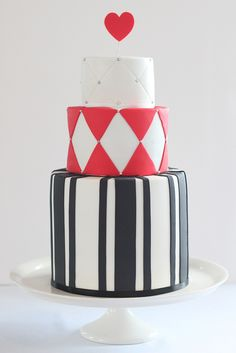 alice in wonderland wedding cake by hello naomi, via Flickr