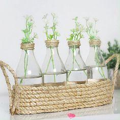 Diy Crafts For Home Decor, Diy Crafts Hacks, Diy Crafts To Sell, Craft Room Decor, Glass Bottle Crafts, Diy Bottle, Rope Crafts, Jar Crafts, Decoration