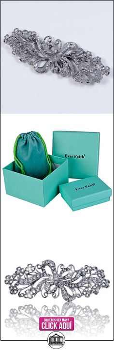 EVER FAITH® - Cristal Austriaco Filigrana Lazo Novia Broche Claro N02465-1  ✿ Joyas para mujer - Las mejores ofertas ✿ ▬► Ver oferta: https://comprar.io/goto/B00IRVV7W4