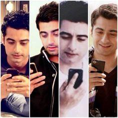 Harshad Arora using phone
