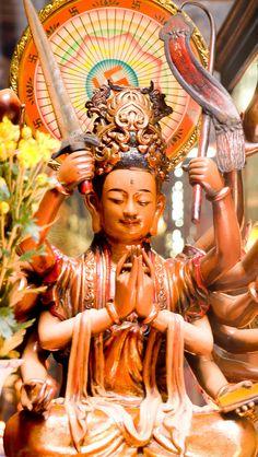 Temple God in Saigon, Vietnam
