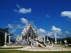 10 Most Amazing Temples in the World  Wat Rong Khun in Chiang Rai, Thailand is unlike any Buddhist temples in the world. #travel #places #temples
