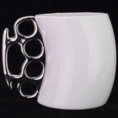 Fisticup Coffee Mug with Knuckle Handle Cup Gift Coffee Mug Fisti Cup Silvery - http://ucables.com/product/fisticup-coffee-mug-with-knuckle-handle-cup-gift-coffee-mug-fisti-cup-silvery/