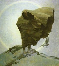 Winter (Death) by NC Wyeth, Oil on canvas Jamie Wyeth, Andrew Wyeth, Nc Wyeth, Howard Pyle, American Artists, Les Oeuvres, Painting & Drawing, Art History, Oil On Canvas