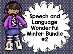 Speech and Language Winter Bundle at a discounted price!!
