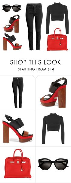 """""""outfit"""" by imnotwhatyouwant on Polyvore featuring moda, Michael Kors, WearAll e Hermès"""