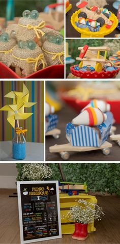 Festa Infantil - Brincadeira de criança - Por Cristina Boross - Blog Festa de menino Disney Birthday, Boy Birthday, Snoopy Party, Cinderella Party, Baby Shower, Holidays And Events, Birthday Decorations, Vintage Toys, Party Planning