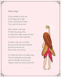 Original fairy poem Making Magic, 8x10 digital download printable by FairyLynne at Etsy