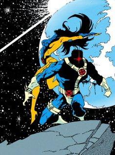 Cyclops Jean Grey - love Cyclops' red energy piercing the darkness