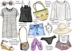 Mangomini-summer holiday wardrobe essentials (for Hello Giggles)