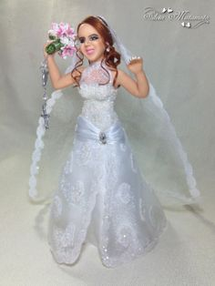 <3 Detalhes: vestido,penteado e buquet todo baseados nas fotos da noiva <3