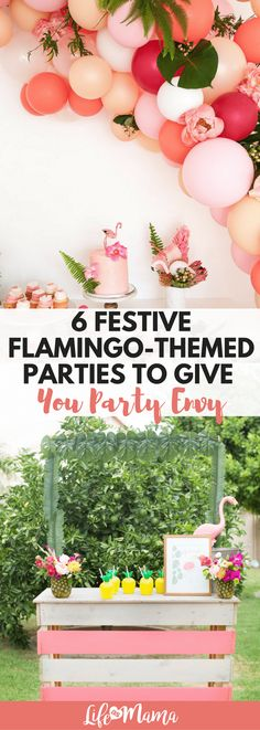 These flamingo-themed parties are amazing. So cute and so many details that incorporate flamingos!