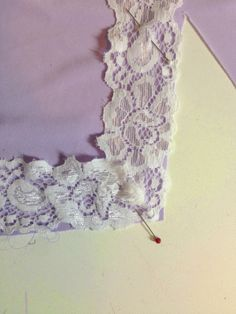 Slip Sew-Along #8: Sewing the Lace at the Hem - link to the other parts of this project at the bottom of post.  Lots of detail here.
