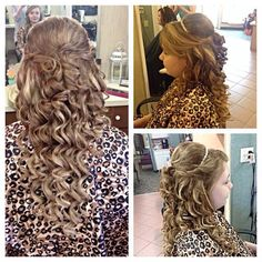 Prom hair Half up half down  Curls