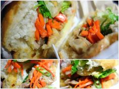 Vietnamese bahn mi sandwiches in fluffy white bread, with grilled lemongrass chicken and crunchy vegetables at Quick Bites in Publika Mall, Mont Kiara.