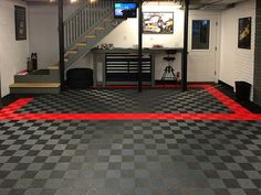 Garage Floor Gallery And Pictures Garages Pinterest Flow Free - Click together garage flooring