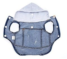 Pet Vests Dog Denim Hoodies Dog Clothes Puppy Jacket Dog Outfit for Small Dogs Baby Dogs, Pet Dogs, Dog Grooming Shop, Diy Dog Bed, Dog Clothes Patterns, Puppy Clothes, Dog Jacket, Dog Wear, Pet Costumes