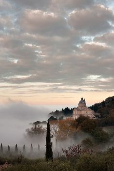 """Montepulciano, Siena, Tuscany ... I've recently finished reading a book based in Montepulciano called """"At Least You're in Tuscany"""" by Jennifer Griswell where she mentions the fog of Montepulciano"""