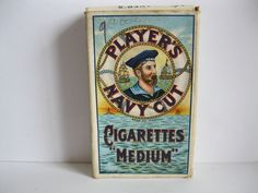 """PLAYERS"" Navy Cut Cigarettes  (Cardboard Packet)"