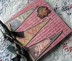 CCCC Debi Premade pages chipboard book Scrapbook Mini Photo album not paper bag