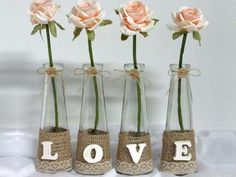 Resultado de imagen para jarra de vidro decorada