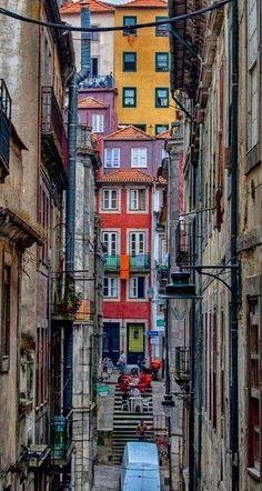 #Porto #Portugal | #Narrow #Streets of #old #Porto #downtown