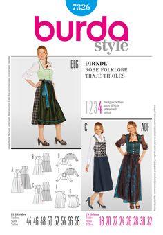 BD7326 Misses' Dirndl Dress