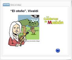 """""""Llegó el otoño"""", de musicaeduca.es, es una audición musical de """"El otoño"""" de Vivaldi y un cuento que le da contenido y hace seguir la música con mayor atención. Además se acompaña de un cuaderno de trabajo y una actividad sobre el tema."""