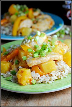 ***spicy pineapple chicken by preventionrd...reheats pretty well too if you save some sauce