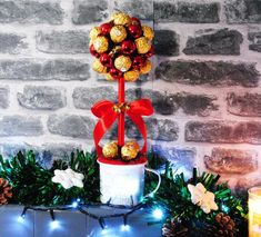Items similar to Christmas chocolate hamper sweeet tree Ferrero Rocher / Lindor. Personalised festive gift on Etsy Ferrero Rocher Tree, Chocolate Hampers, Christmas Chocolate, Christmas Trees, Halloween, Handmade Gifts, Etsy, Xmas Trees, Kid Craft Gifts