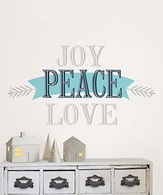 Another great find on #zulily! 'Joy Peace Love' Self-Adhesive Wall Quote by WallPops! #zulilyfinds