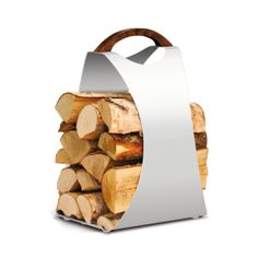 Decovry - Be the first to discover! Firewood Carrier, Body Rock, Oak Stain, Wood Storage, Modern Country, Wooden Handles, Pure White, Design Inspiration, Pure Products