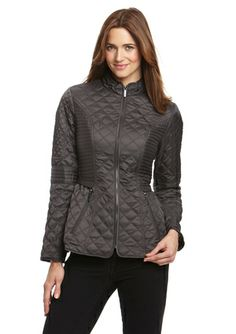 LAUNDRY BY SHELLI SEGAL Quilted Cinch Waist Jacket @ideeli