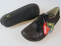 ALEGRIA ABB-362 Brown Black Lace Nursing Shoes Women's EU 41 US 10.5 TRIED ONCE…